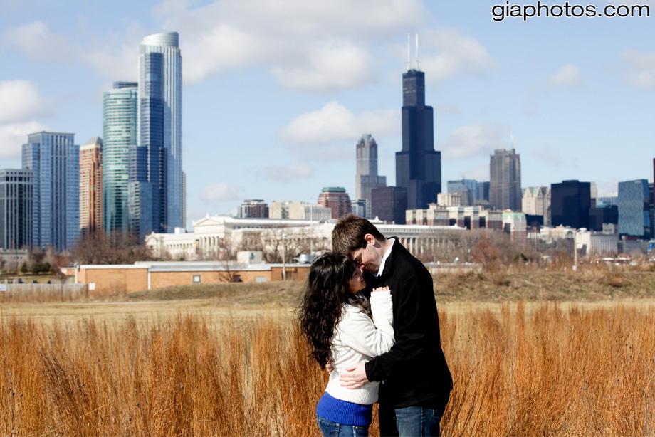 chicago engagement photographer winter photos
